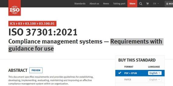 publicada ISO 37301